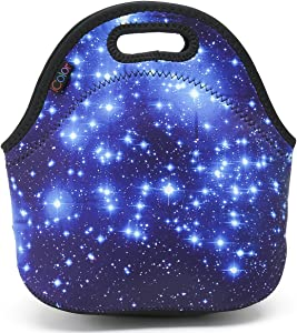 ICOLOR Star Soft Friendly Insulated Lunch box Food Bag Neoprene Gourmet Handbag lunchbox Cooler warm Pouch Tote bag For School work LB-045 by ICOLOR