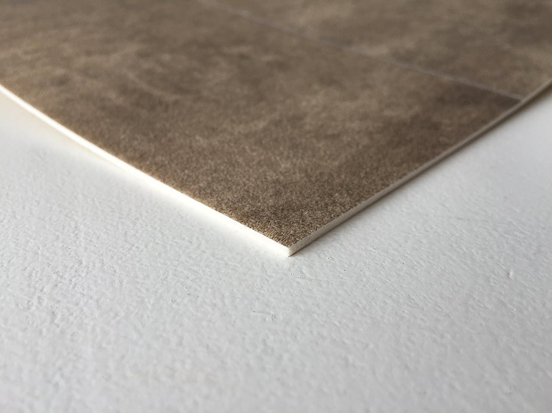 CV-Boden wird in ben/ötigter Gr/ö/ße als Meterware geliefert rutschhemmend PVC-Belag verf/ügbar in der Breite 3 m /& in der L/änge 5,0 m PVC Vinyl-Bodenbelag in edler Fliesen /& Natursteinoptik Hell