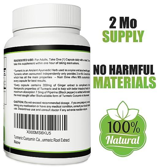 Amazon.com: Turmeric Curcumin Ginger Capsules - 60 Organic root ...