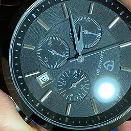 Amazon Co Jp 腕時計 メンズ おしゃれ クロノグラフ ビジネス カジュアル 防水 多機能 アナログ腕時計 ステンレス鋼 日付表示 ブラック 腕時計