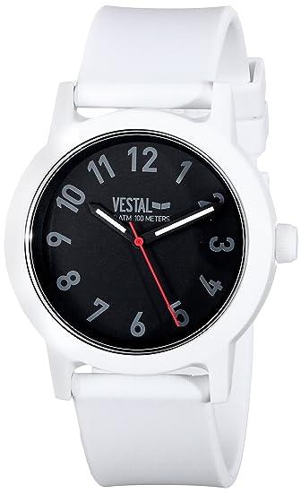 Vestal ALP3P01 Alpha Bravo reloj de plástico - blanco/negro: Amazon.es: Relojes