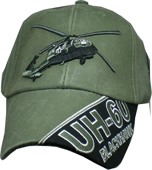Image Unavailable. Image not available for. Color  Blackhawk UH-60  Helicopter OD Embroidered Military Baseball Cap 9bd945f679e9