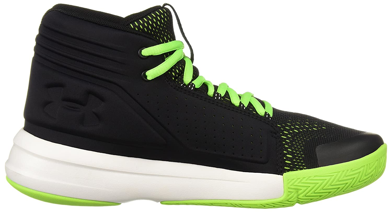 ,4 UK Black//Hyper Green//White Under Armour Boys Ua BGS Torch Mid Basketball Shoes, 36 1//2 EU