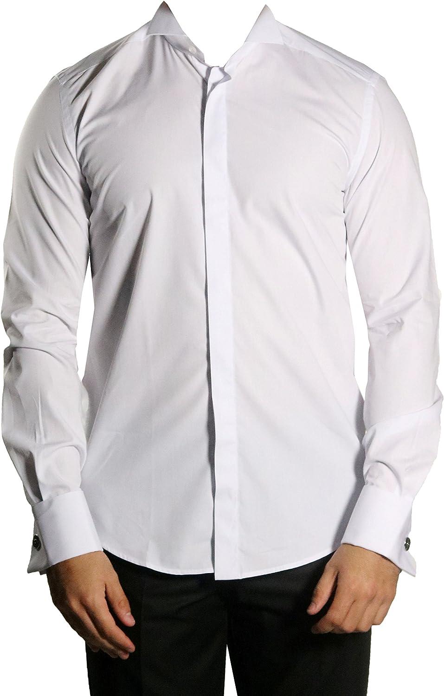 MMUGA - Camisa de manga larga con cuello de camión: Amazon.es ...