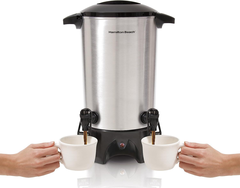 Commercial Coffee Dispenser Maker Urn Big Silver Office Restaurant Large Brewer