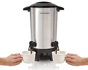 Hamilton Beach 40518 Dual-Spout Coffee Urn Silver