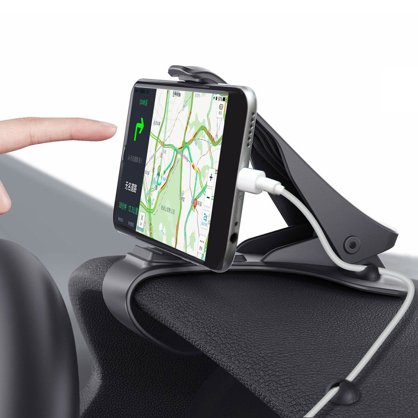 Car Phone Holder, MWAY Car Mount HUD Design with Cable Clips, No Blocking for Sight, Durable Dashboard Cell Phone Holder for iPhone X 8 7/7Plus/6/6S Plus/Samsung, HuaWei, 3.5-6.5 Inches Smartphones