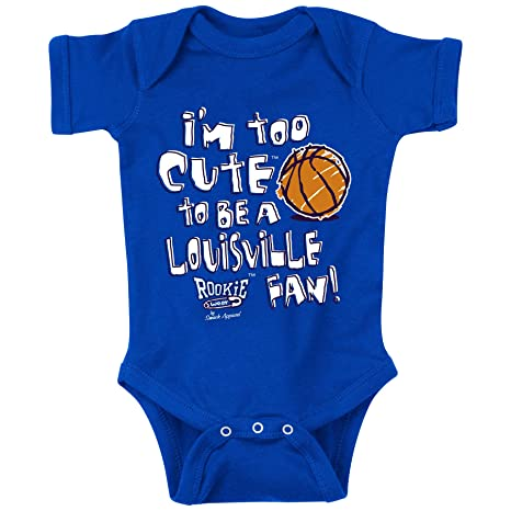Royal Onesie 2T-7T NB-18M Smack Apparel Kentucky Basketball Fans or Toddler Tee Im Too Cute to be a Louisville Fan