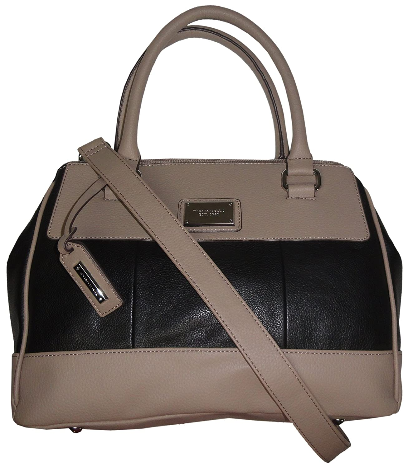 da8b08d2fbc6 Amazon.com  Tignanello Purse Handbag Social Status Leather Satchel Black Mushroom   Clothing