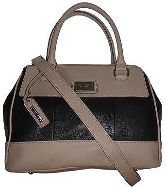14f8858434 Amazon.com  Tignanello Purse Handbag Social Status Leather Satchel  Black Mushroom  Clothing