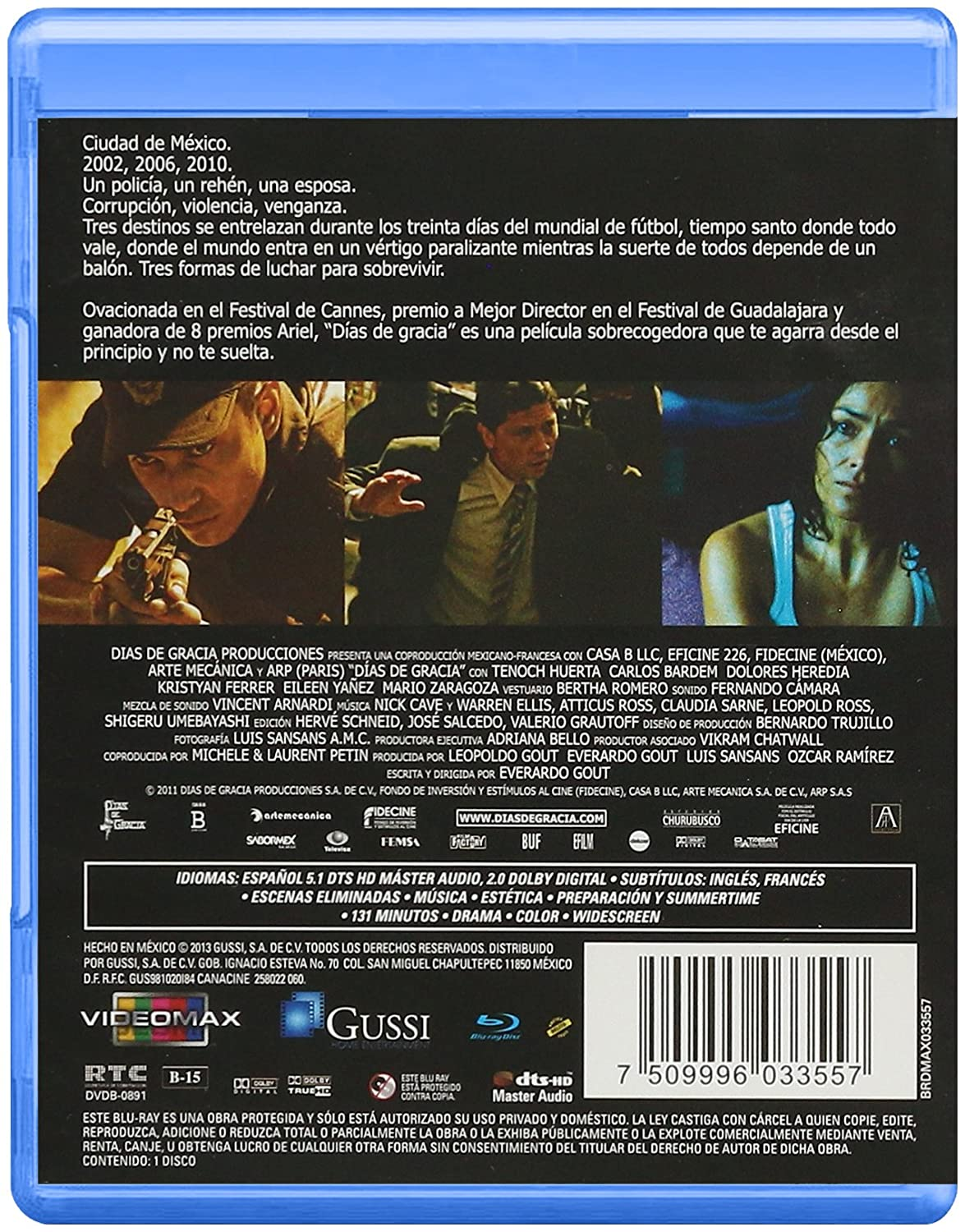Dias de Gracia Blu Ray Spanish audio, with English and French ...