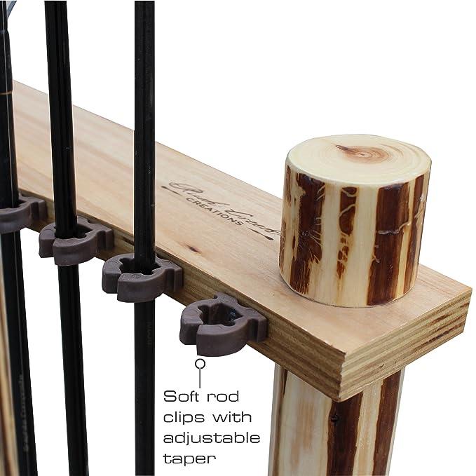 Amazon.com: Rush Creek Creations Rustic Log 12 Fishing Rod Corner ...