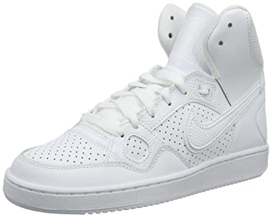 quality design 482a1 a0e78 Nike Son of Force Mid, Baskets Basses Femme, Blanc-Weiß White, 41