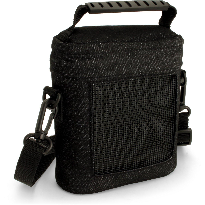 iGadgitz Black Fabric Travel Carrying Bag for Bose SoundLink Colour Bluetooth Speaker with Detachable Shoulder Strap U5424