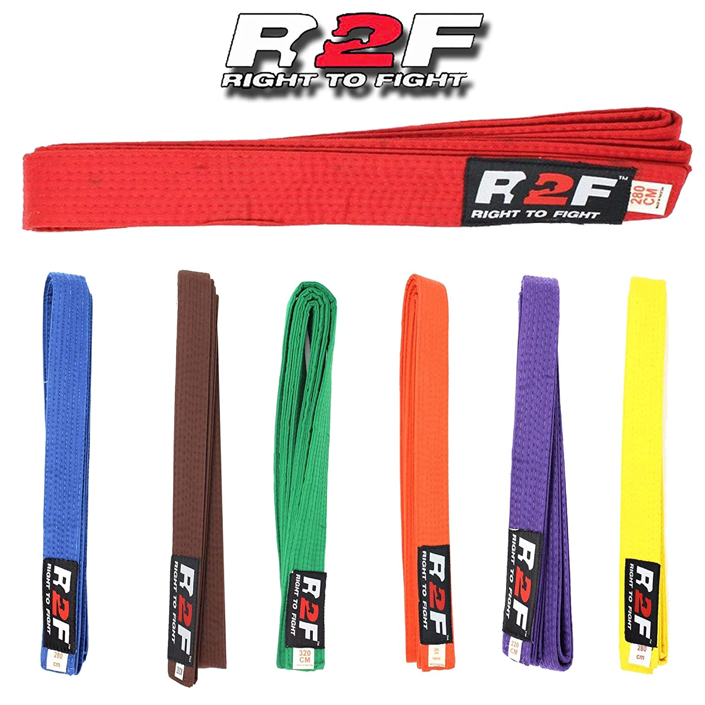 R2F Sports Karaté Judo Taekwondo Martial Arts Multi Couleur Ceintures