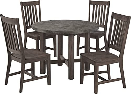 Concrete Chic Brown Gray 5-Piece Dining Set by Home Styles