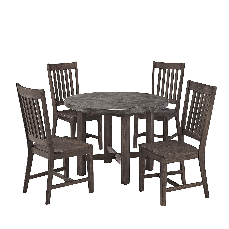 Amazon.com   Home Styles Concrete Chic 5 Piece Dining Set   Table U0026 Chair  Sets
