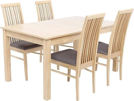 Brooklyn 4-6 mesa de comedor extensible con 4 sillas – efecto de ...