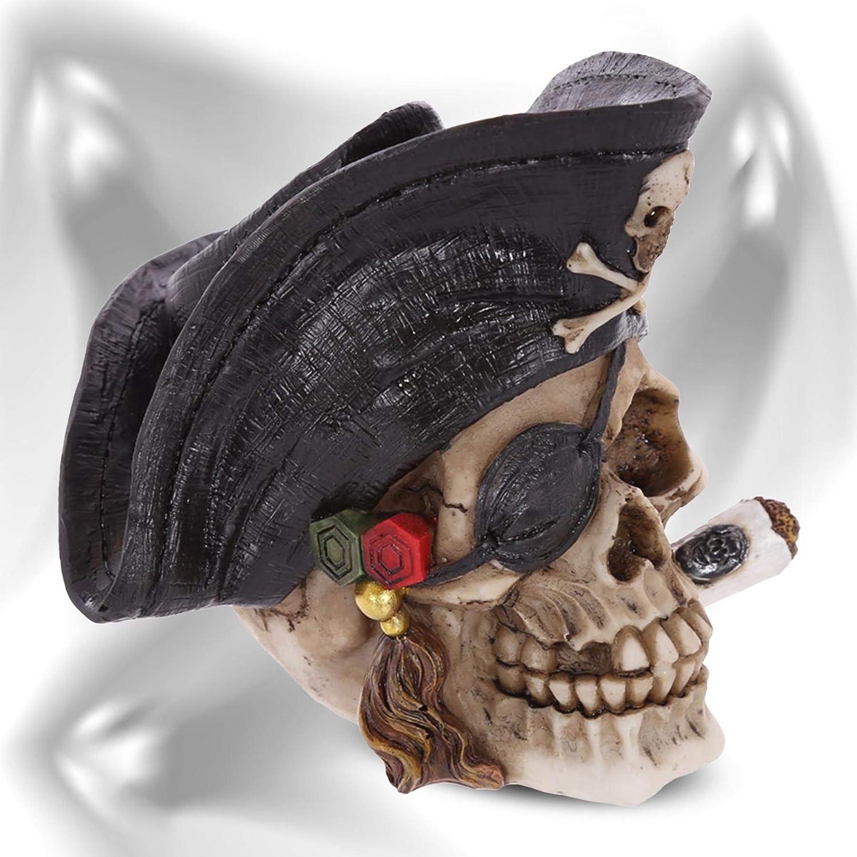 mtb more energy Figure cr/âne Smoking Kills D/écoration t/ête de Mort Fantastique Fantaisie Horreur Pirate
