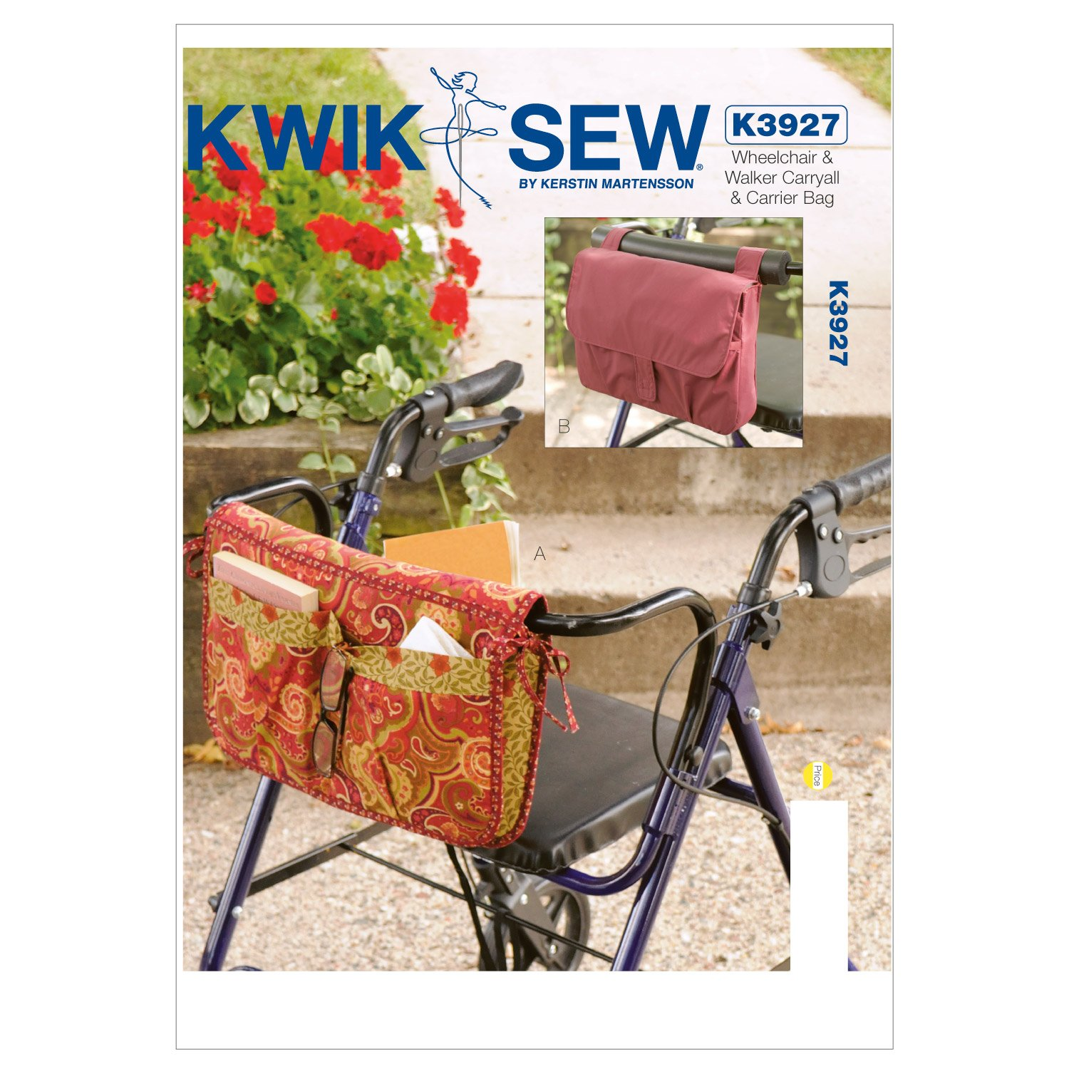 Kwik Sew K3927 Wheelchair and Walker Carryall and Carrier Bag Sewing Pattern, No Size McCall Pattern Company K3927OSZ
