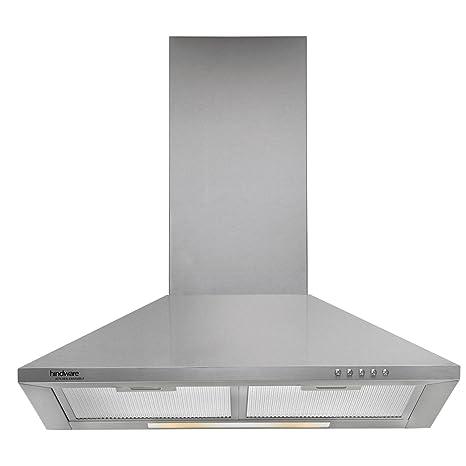 Hindware 60cm 700 m3/hr Chimney (Clarissa SS 60, 2 Cassette Filters, Steel/Grey)