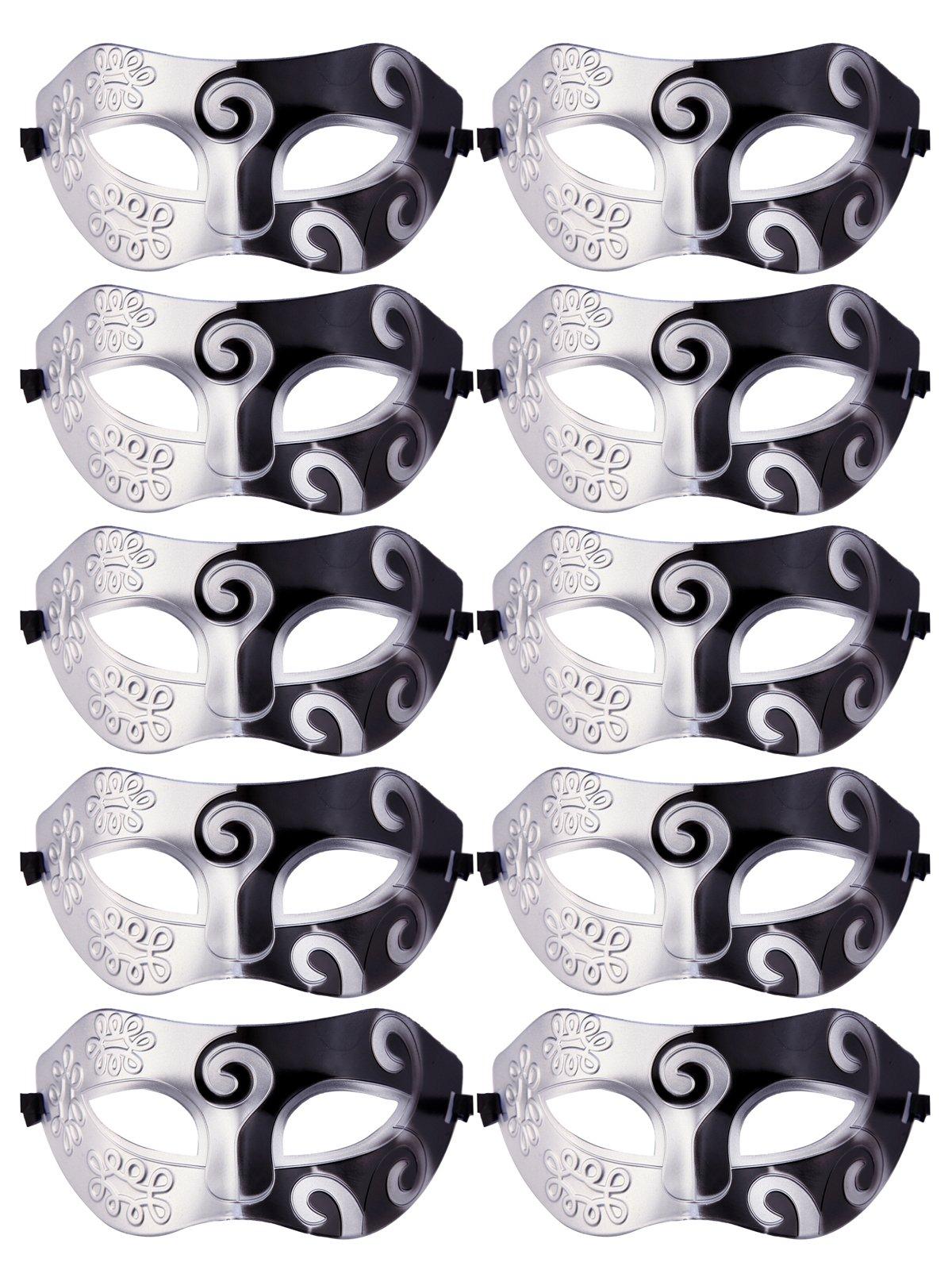 CISMARK Unisex Retro Masquerade Mask Mardi Gras Costume Party Acccessory