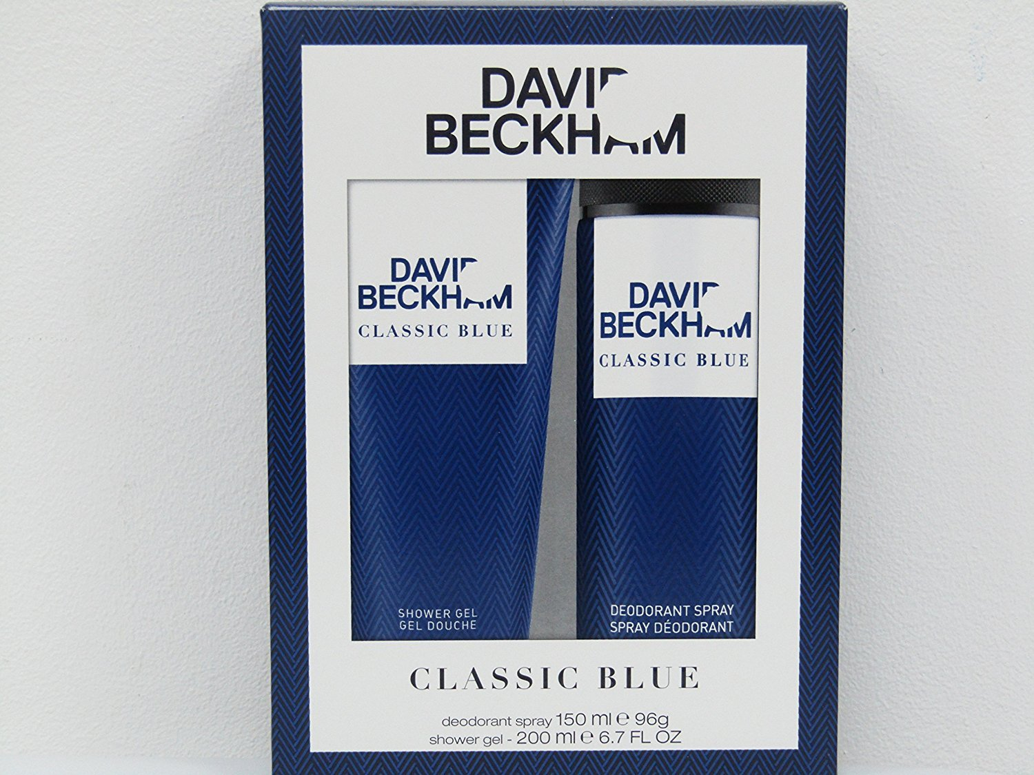 David Beckham Classic Blue Body Spray Plus Body Wash 3614224219291