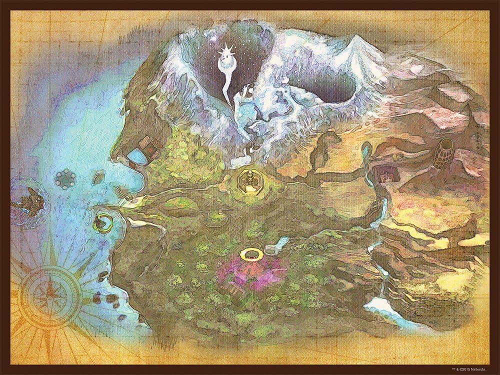 Termina Map USAopolyJDPNIN011 Puzzle The Legend of Zelda: Majoras Mask USAopoly Toy