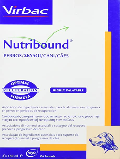 Virbac 3597133067583 Nutribound 3 Botellas para Perros - 150 ML