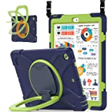 ZenRich iPad 8th/7th Generation Case, iPad 10.2 Case 2020/2019 with Pencil Holder Kickstand Handle Grip and Shoulder Strap ze
