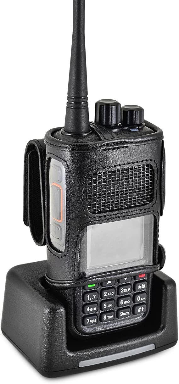 Multi-function Leather Carrying Holder Radio Holster for Retevis RT3 Radio NEW