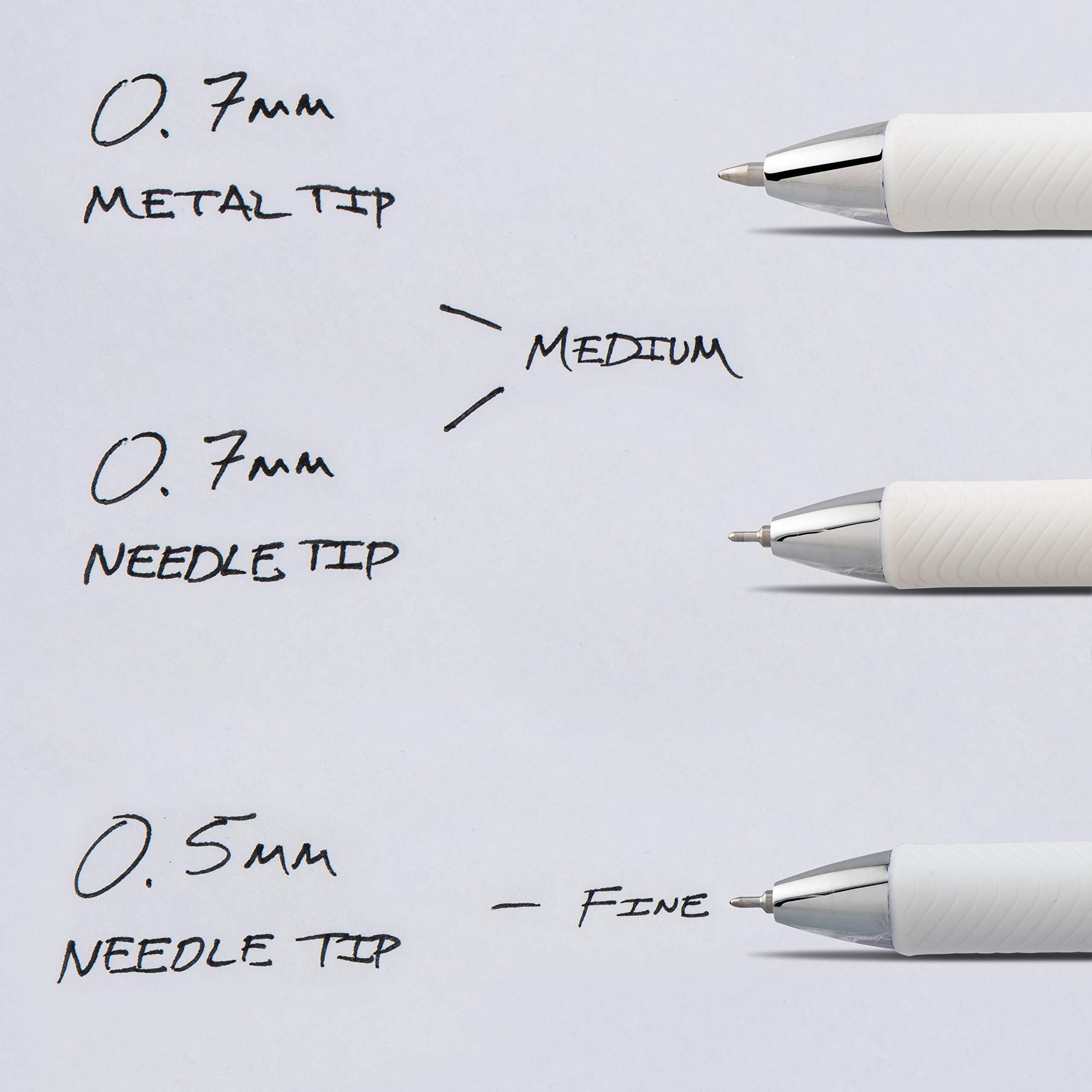 Pentel EnerGel Pearl Deluxe RTX Liquid Gel Pen, 0.5mm, Fine Line, Needle Tip, Black Ink, Box of 12 (BLN75PW-A) by Pentel (Image #8)