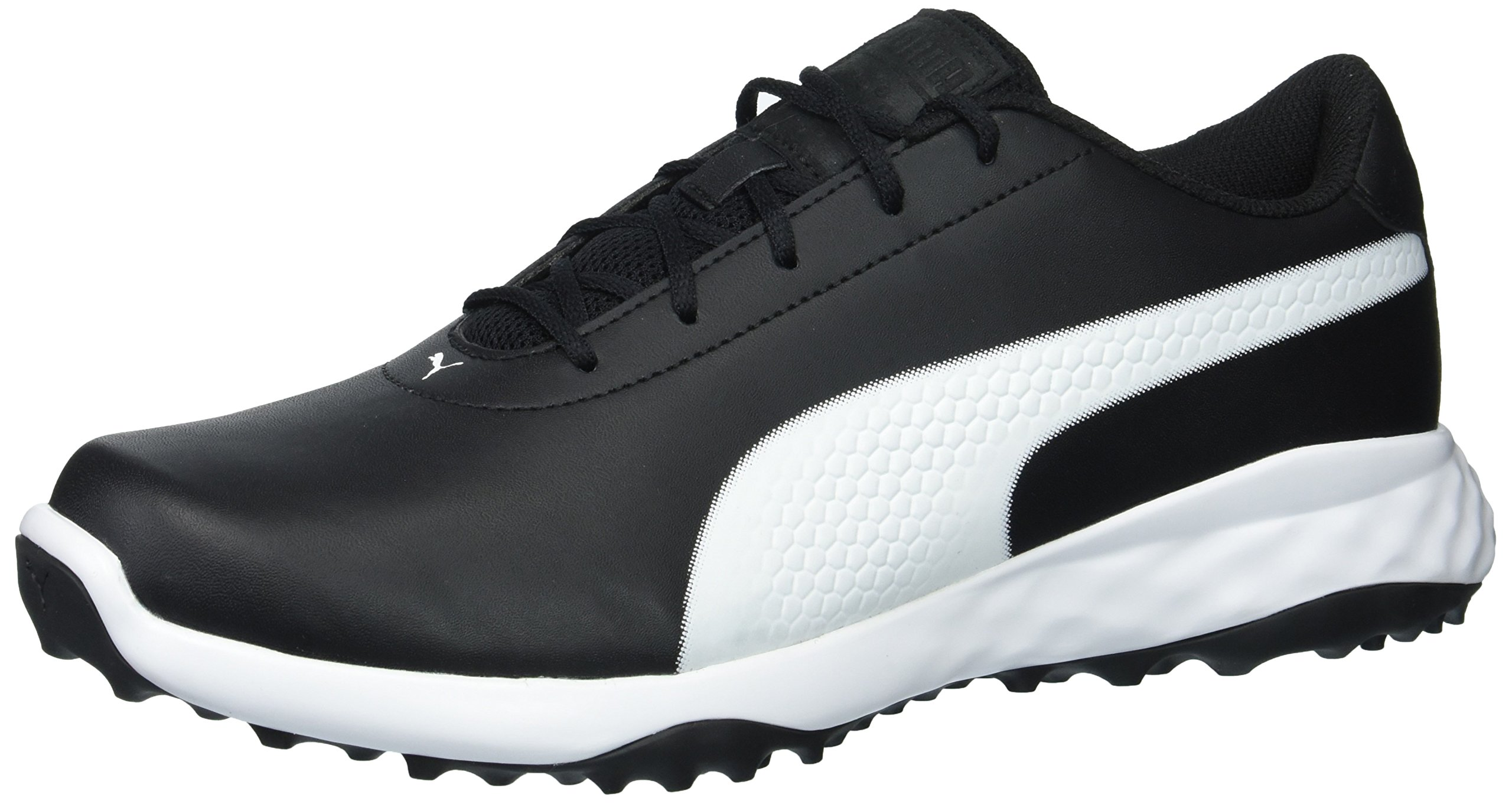 PUMA Golf Men's Grip Fusion Classic Golf Shoe, Black/White, 8.5 Medium US by PUMA