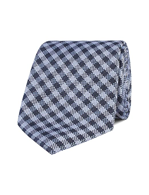 10d42f556210 Stvdio By Jeff Banks Blue Gingham Tie: Amazon.co.uk: Clothing