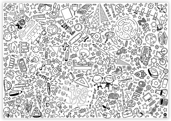 Jeka Papier Tischdecke Zum Ausmalen Schulanfang I Schultute I I Geschenkidee Schuleinfuhrung I Dekoration Schulanfang I Geschenk Zuckertute I Mal Mich Bunt Amazon De Spielzeug