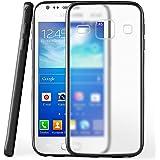 Housse de protection OneFlow pour Samsung Galaxy Ace 3 housse silicone Case en TPU de 1,5mm | Accessoires Cover pour la protection du téléphone portable | Housse téléphone portable Bumper pochette transparente en DEEP-BLACK
