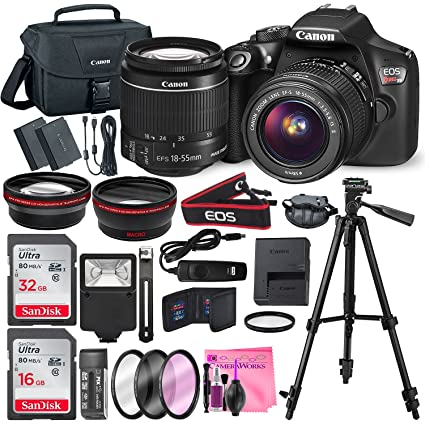 Canon Eos Rebel T6 Dslr Camera With Ef S 18 55mm F 3 5 5 6 Is Ii Lens Along With 32 16gb Sdhc And Deluxe Accessory Bundle With Camera Works