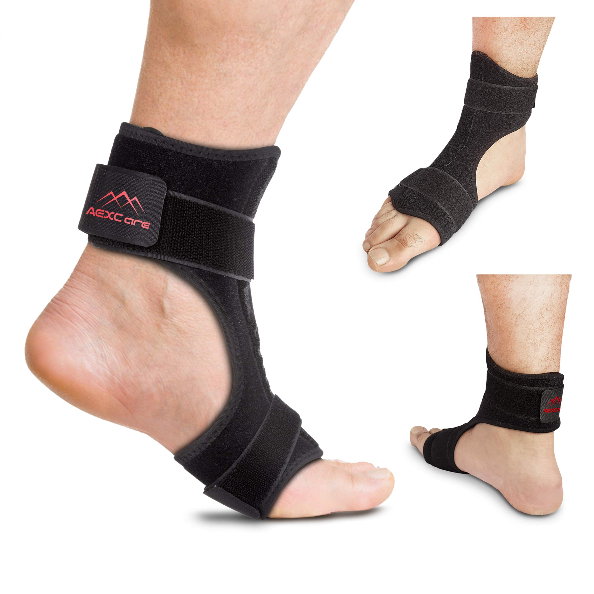 Plantar Fasciitis Foot Brace Night & Day Splint, Injury Support for Heel Pain Relief, Adjustable by AEXCare