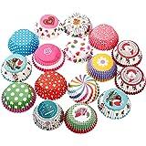 Butterme 100 Pcs moules à muffins cupcakes en papier gâteau de tasse pour la fête de mariage / fête d'anniversaire - Couleur Aléatoire -