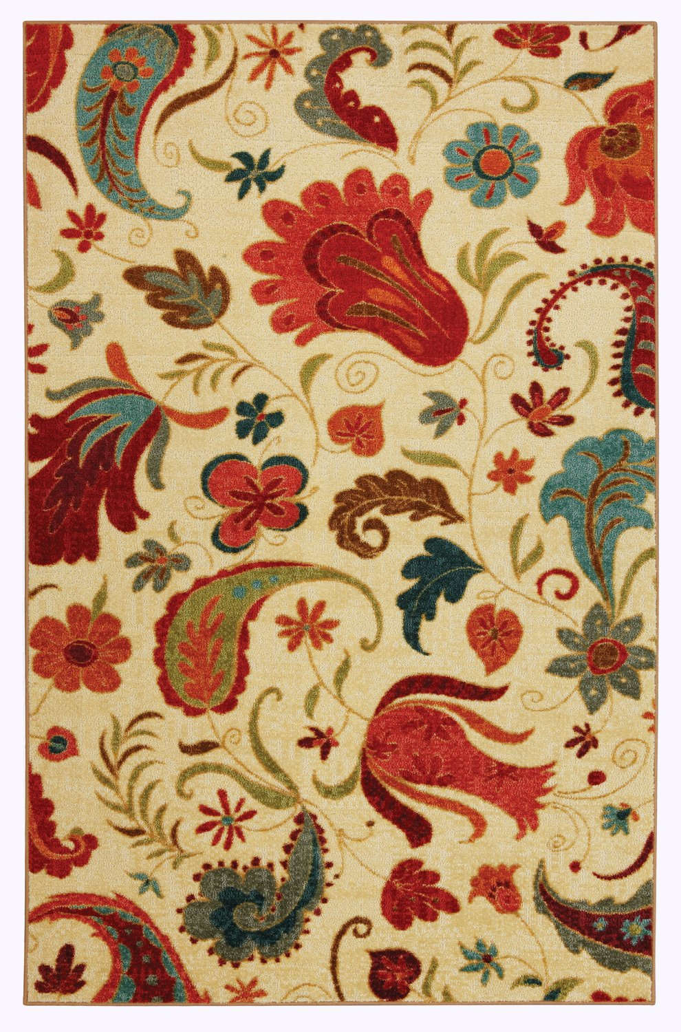 Mohawk Home Strata Tropical Acres Paisley Floral Printed