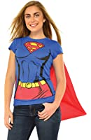 Rubie's DC Comics Supergirl T-Shirt with Cape Costume 880474