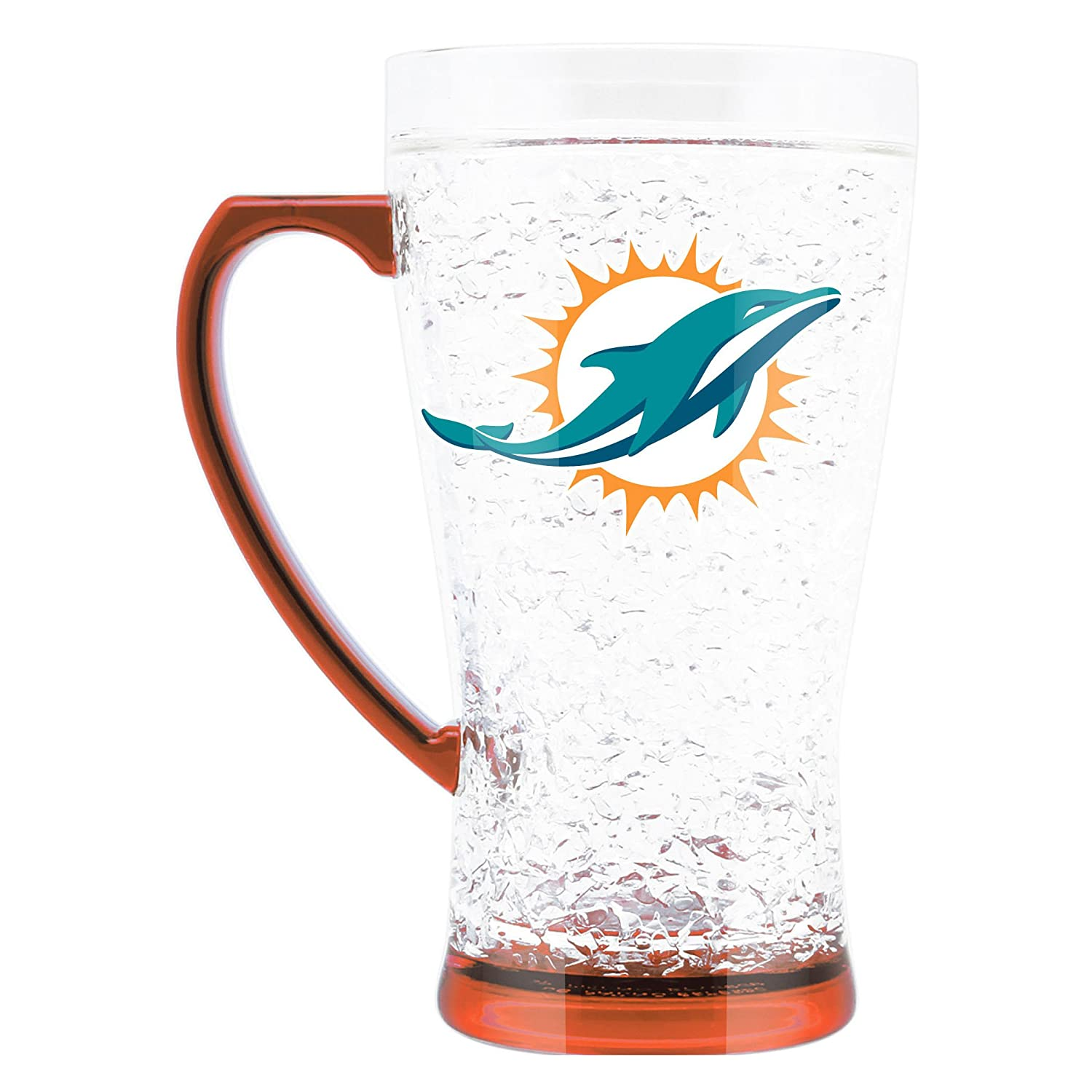 NFL Miami Dolphins 16oz Crystal Freezer Flared Mug