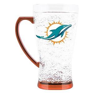 NFL Miami Dolphins 16oz Crystal Freezer Flared Mug