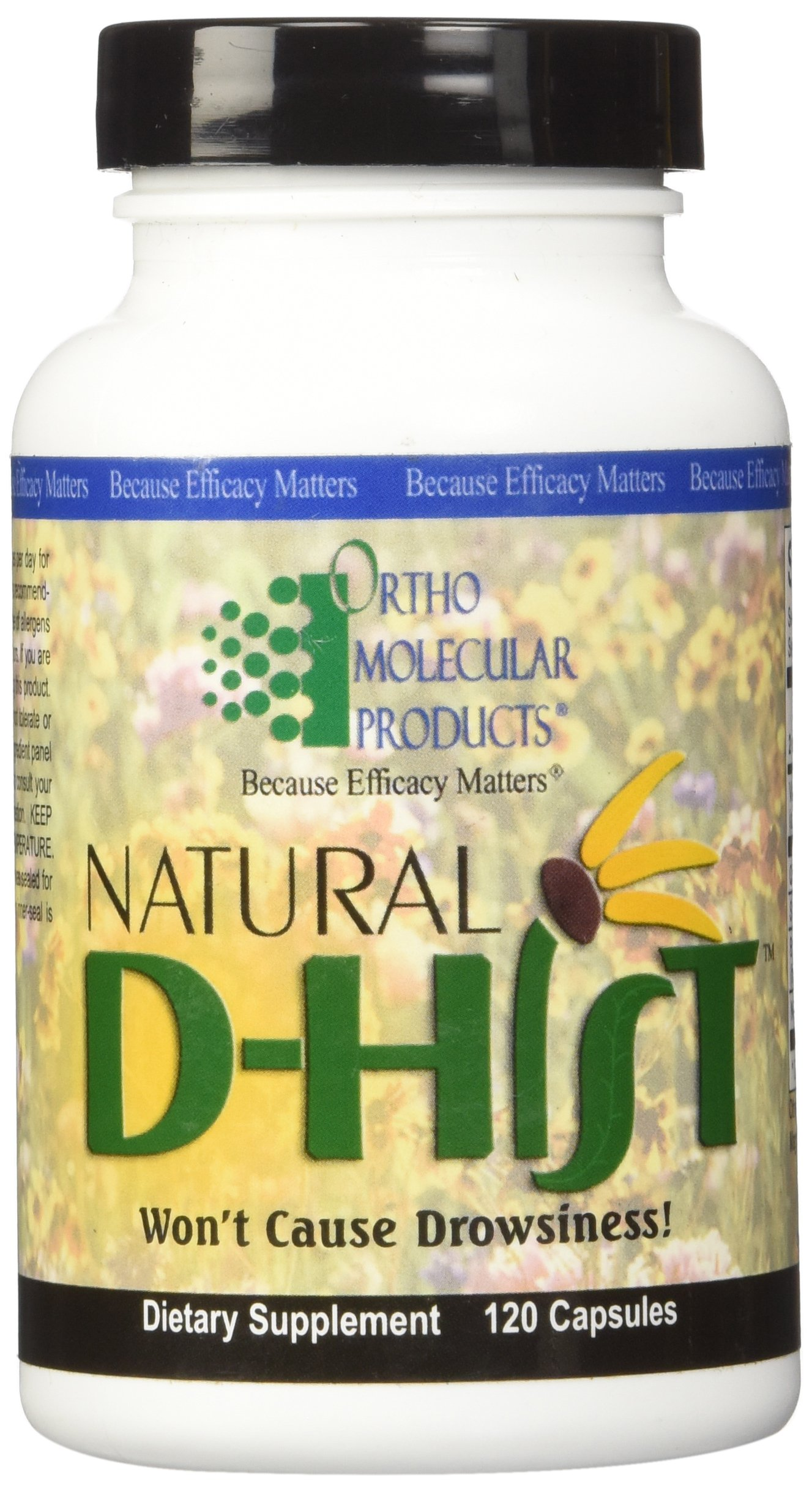 Ortho Molecular Product Natural D-Hist - 120 Capsules