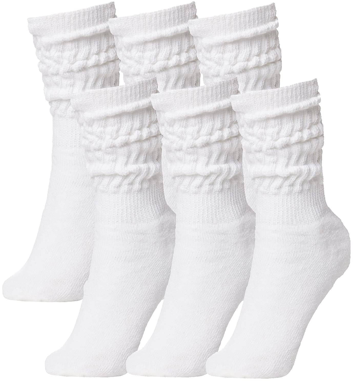 BRUBAKER Womens Or Mens Fitness Workout Gym Slouch Socks 6 Pack 6_Pack_Slouch_Socks