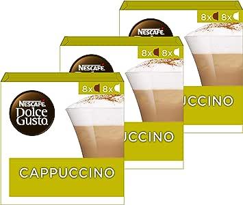 Nescafé Dolce Gusto Cappuccino Koffie Cups - 3 Doosjes Met 16 Capsules