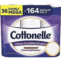 36-Count Family Mega Rolls Cottonelle Ultra ComfortCare Toilet Paper