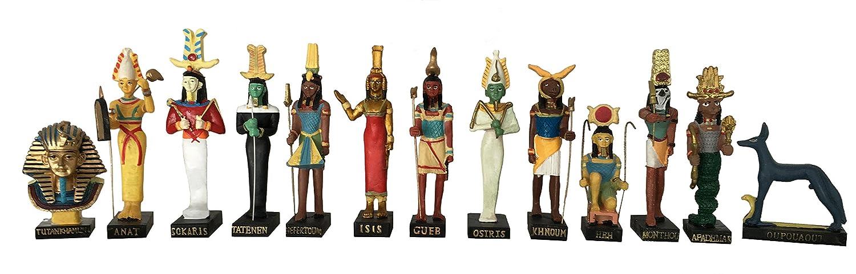 Amazon Ancient Egypt Egyptian God 13 Figurines Set Resin Statue