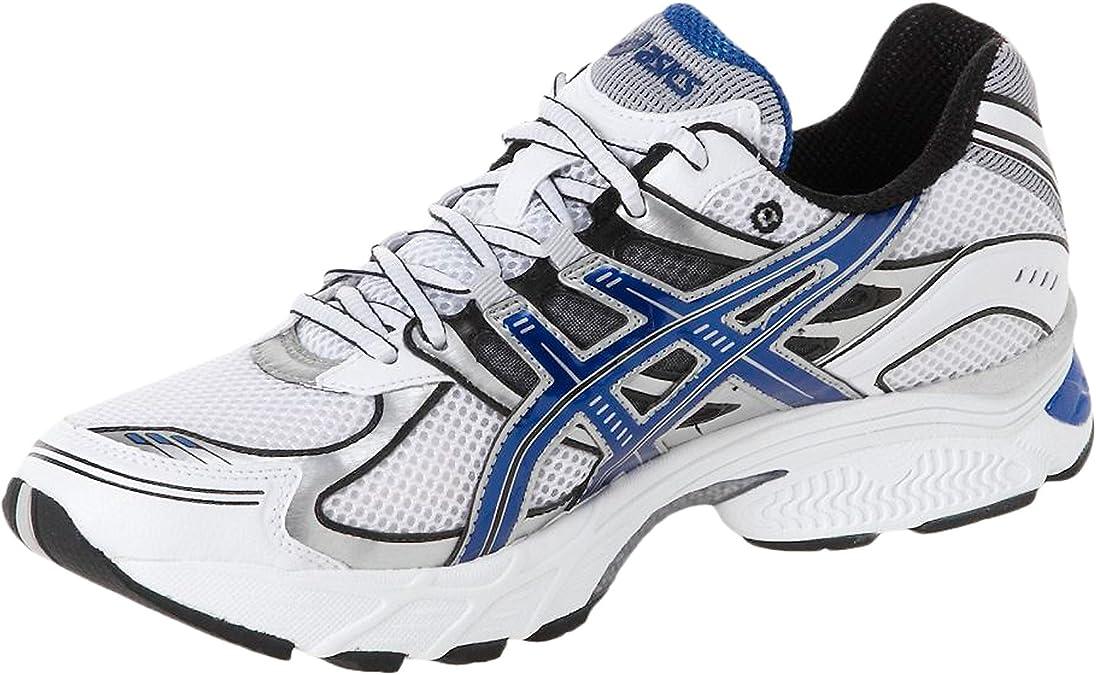 Asics Zapatillas de Deporte. Amortiguación Gel Stratus 4 White Deep Royal Black, Hombre, Weiß, 43,5: Amazon.es: Deportes y aire libre