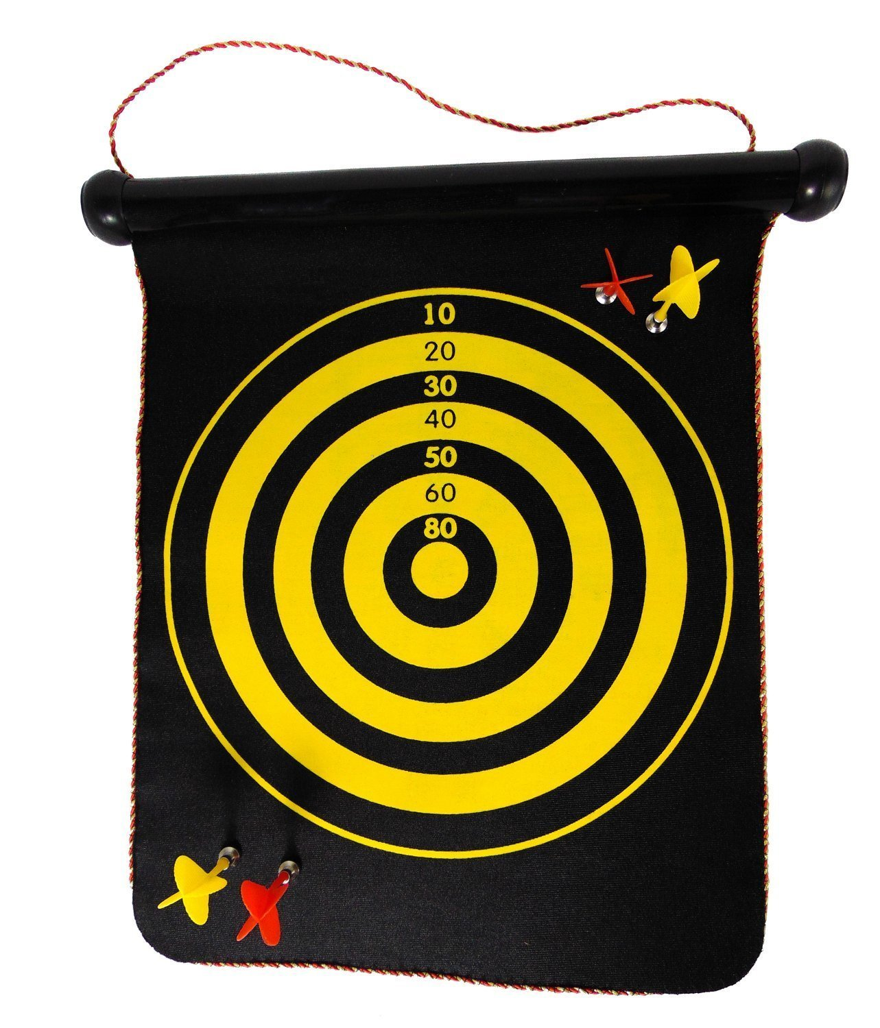 2 in 1 Safety First Magnetic Dartboards Roll Up 15'' Magnetic Darts